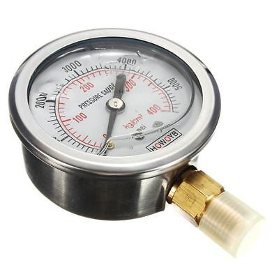 Hydraulic Liquid Filled Pressure Gauge 0-5000 PSI