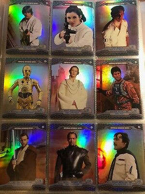 Star Wars Perspectives Refractor Parallel Cards Lot