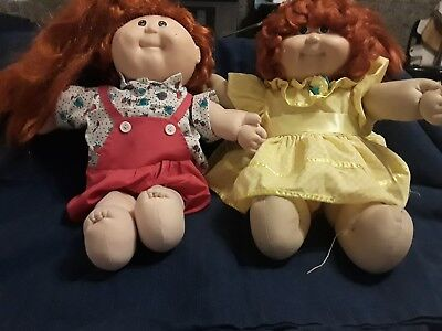 1983 vintage cabbage patch dolls with cabbage patch clothes