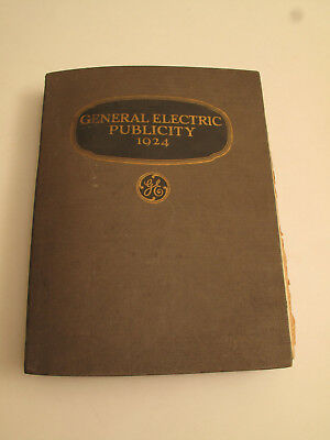 Vtg Antique 1924 Ge General Electric Publicity Pr Book Advertising