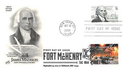 4921 (49c) War of 1812: Fort McHenry, First Day Cover Cachet dual [D280301]
