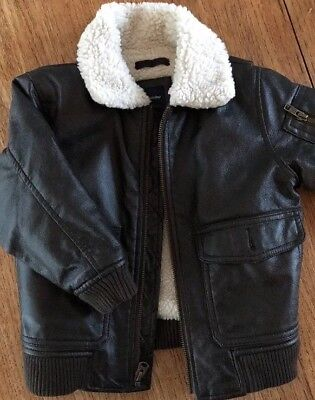 Baby Gap  Toddler  Bomber Leather Style Jacket size 4T never worn