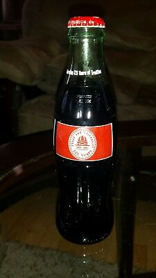 Texas A&M 125year anniversary 8oz Coke bottle New never opened