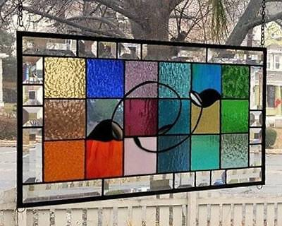 **SILHOUETTE**Stained Glass Window Panel (Signed and Dated)