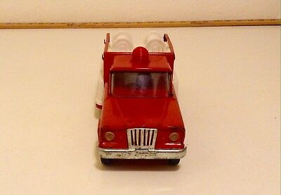Vintage Tonka Jeep Fire Truck Pumper Pressed Steel Chrome Grill 1960's