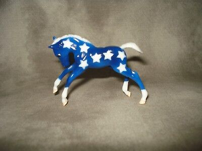 Breyer CM Glossy Decorator Dark Blue Starry Scrambling Foal Stablemate
