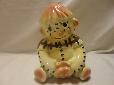 Vintage Raggedy Andy Ann Coin Bank Porcelain Opened Unusual Andy