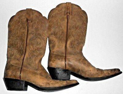 Women's Ariat Western Cowboy Boots Rustic Tan Brown size US 10B