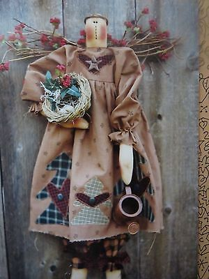 ** RACHEL WOODLAND ANGEL **   Cloth Doll Pattern....by Meme's Quilts