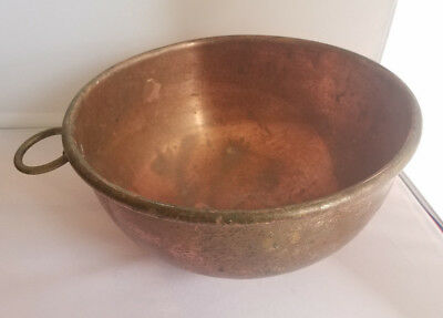 Vintage Solid Copper Candy Confectioners Heavy Mixing Bowl Kitchen Ring