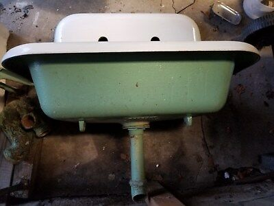 Vintage Farmhouse Cast iron Kitchen or Laundry Sink