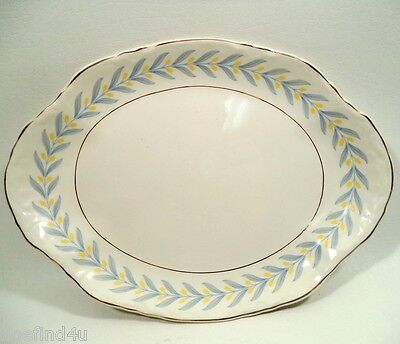 """APOLLO by W S George Radisson China 11 1/2"""" Oval Serving Platter"""