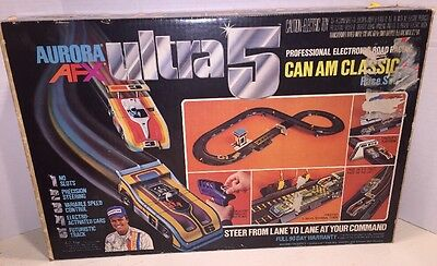 1978 Aurora AFX Ultra 5 Can Am Classic No. 2911 Electronic Road Racing Set