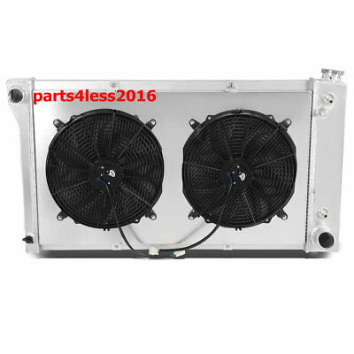 3ROW Alloy RADIATOR+SHROUD&FAN FIT Chevy C/K Series C10/C20/K10/K20 Pickup 67-72