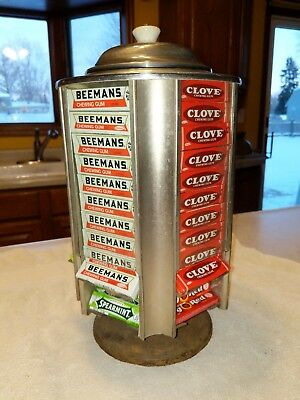 Antique Wrigley's Chewing Gum Display Case Stand Drug Store Counter