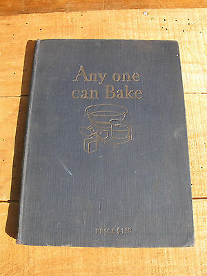 Royal Baking Powder Co. ANYONE CAN BAKE 1929 Recipes-Instructional Cookbook