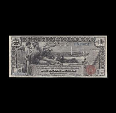 1896 $1 Silver Certificate Education Strong Fine