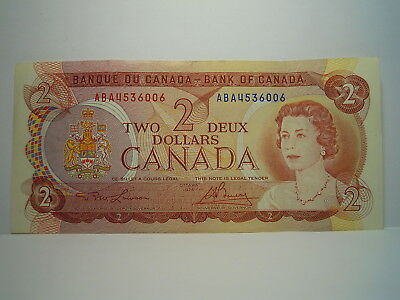 """Canada $2.00 Banknote. 1974 Series  ( Aba4536006) """"nice"""""""
