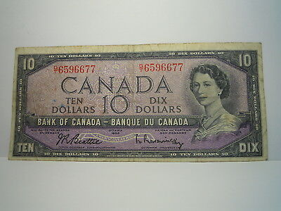 Canada 1954 $10 Banknote  ( G/t6596677)