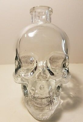 CRYSTAL HEAD VODKA 750ml EMPTY BOTTLE CLEAR SKULL