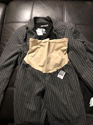 A Pea In The Pod Maternity Gray Business Career Suit Jacket & Pants Sz S