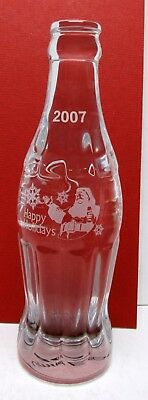 Rare 2007 Coca-Cola  Happy Holidays Crystal Bottle - Mint
