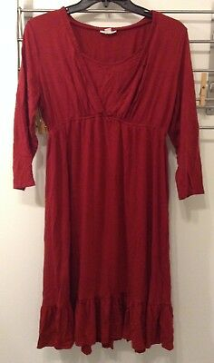 A Pea in the Pod Maternity/Nursing Night Gown Red Size Medium