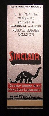 Vintage Sinclair Oil Dino Matchbook - Unused Salesman Sample - Whiteville Nc