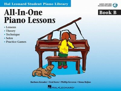 Hal Leonard Student Library All-In-One Piano Lessons Book B with Online Audio