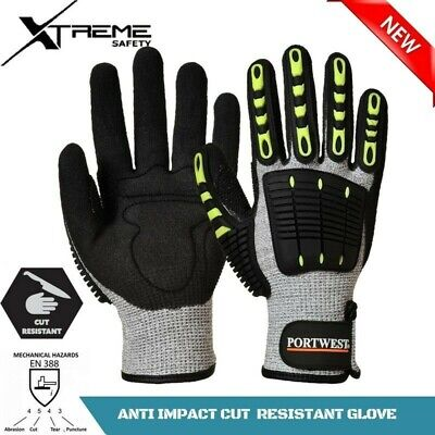 NEW Anti Impact Cut Resistant Level 5 Safety Work Glove Sandy Nitrile 1 Pair