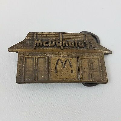 New Old Stock Vintage 1970s McDonald's Restaurant Brasstone Belt Buckle