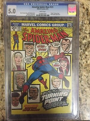 The Amazing Spider-Man #121 (Jun 1973, Marvel) CGC 5.0 White Pages