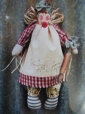 ** KITCHEN ANGEL **   Cloth Doll Pattern..by Cow Country Designs