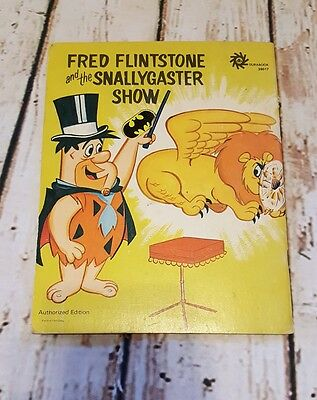 Vtg RARE 1972 Fred Flintstone and the Snallygaster Show Book Authorized Ed