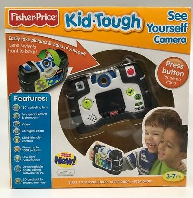 Fisher Price Kid Tough W1537 See Yourself Digital Camera Black NEW IN BOX
