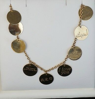 """NEW 18K Yellow Gold Roberto Coin Love Plus Tag Bracelet 8"""""""