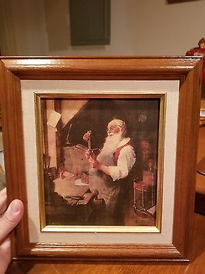 Norman Rockwell Santas Workshop Picture Framed Perfect Christmas Gift