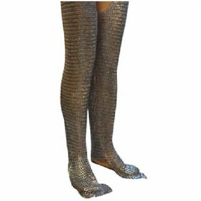 Flat Riveted Flat Washer Chain Mail Leggings Medieval Chainmail Chausses Leg XC1