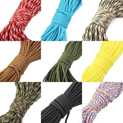 30M 550 Paracord Parachute Cord Lanyard Mil Spec Type III 7 Strand Core100FT WO