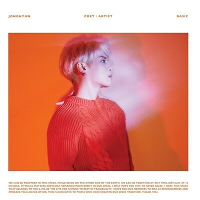 K-POP JONGHYUN New Album [Poet l Artist] CD + Photobook Sealed
