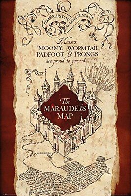 World map antique style educational maps maxi poster print 61x91 harry potter marauders map wizarding world maxi poster print 61x915cm 24x36 gumiabroncs Images