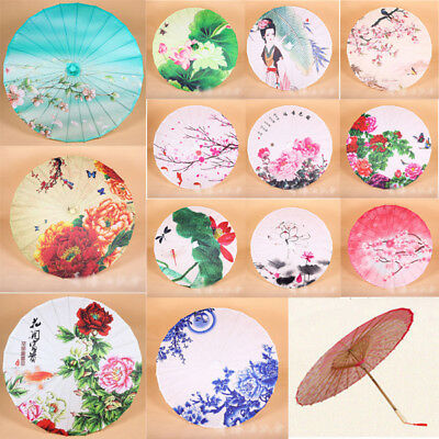 Dance Party Prop Chinese National Classical Handmade Oil Paper Umbrella Parasol