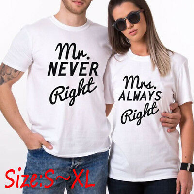 9cb08825d48 Casual Couple T-Shirt Mr And Mrs Family Love Matching Shirts Couple Tee Tops