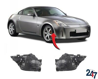 New Nissan 350Z 2003-2005 Front Wheel Arch Trim Cover Plastic Pair Set N/S + O/S