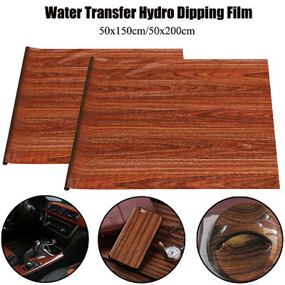 UK Brown Wood Grain PVA Hydrographic Water Transfer Hydro Dipping Print Film