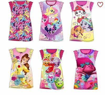 Girls Nightie Nightdress Disney Cartoon Character