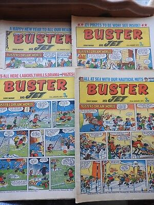 Buster and Jet comics x 4 consecutive from January 1972