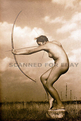 Model nude girl art print busty leggy picture female woman ARCHER-photo