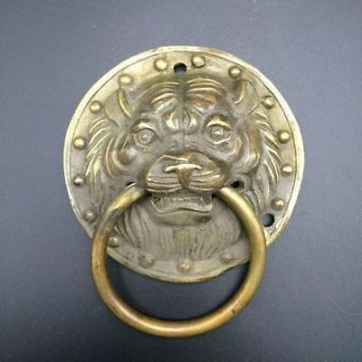 China's ancient pure copper sculpture of Buddha door handle