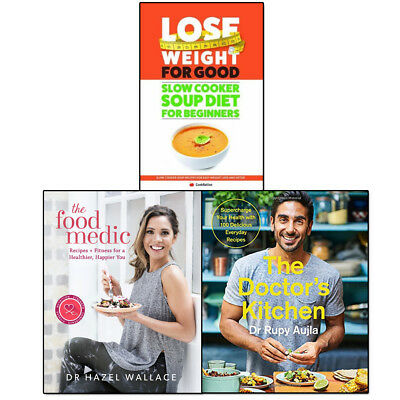 Doctor's Kitchen, Food Medic and Slow Cooker Soup Diet Collection 3 Books Set